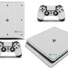 Playstation 4 PS4 Slim Adesivo Skin Fibra Transparente