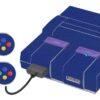 Super Nintendo Snes Adesivo Skin Fibra Azul