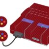Super Nintendo Snes Adesivo Skin Fibra Vermelho