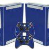 Xbox 360 Fat Adesivo Skin Fibra Azul