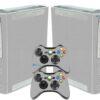 Xbox 360 Fat Adesivo Skin Fibra Cinza