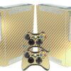 Xbox 360 Fat Adesivo Skin Fibra Dourado