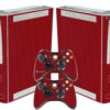 Xbox 360 Fat Adesivo Skin Fibra Vermelho