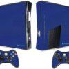 Xbox 360 Slim Adesivo Skin Fibra Azul