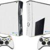 Xbox 360 Slim Adesivo Skin Fibra Branco