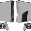 Xbox 360 Slim Adesivo Skin Fibra Cinza