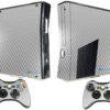 Xbox 360 Slim Adesivo Skin Fibra Cromo