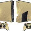 Xbox 360 Slim Adesivo Skin Fibra Dourado