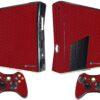 Xbox 360 Slim Adesivo Skin Fibra Vermelho