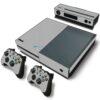 Xbox One Fat Adesivo Skin Fibra Cinza