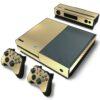 Xbox One Fat Adesivo Skin Fibra Dourado