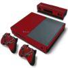 Xbox One Fat Adesivo Skin Fibra Vermelho