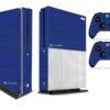 Xbox One S Adesivo Skin Fibra Azul