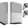 Xbox One S Adesivo Skin Fibra Cinza