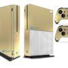 Xbox One S Adesivo Skin Fibra Dourado