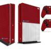 Xbox One S Adesivo Skin Fibra Vermelho
