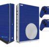Xbox One S Adesivo Skin I Fibra Azul