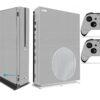 Xbox One S Adesivo Skin I Fibra Cinza