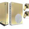 Xbox One S Adesivo Skin I Fibra Dourado