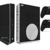 Xbox One S Adesivo Skin I Fibra Preto