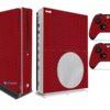 Xbox One S Adesivo Skin I Fibra Vermelho