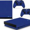 Xbox One X Adesivo Skin Fibra Azul
