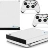 Xbox One X Adesivo Skin Fibra Branco