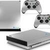 Xbox One X Adesivo Skin Fibra Cromo