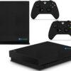 Xbox One X Adesivo Skin Fibra Preto