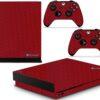 Xbox One X Adesivo Skin Fibra Vermelho