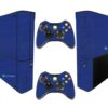 Xbox Super Slim Adesivo Skin Fibra Azul