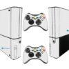 Xbox Super Slim Adesivo Skin Fibra Branco