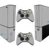 Xbox Super Slim Adesivo Skin Fibra Cinza