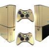Xbox Super Slim Adesivo Skin Fibra Dourado