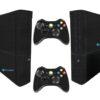 Xbox Super Slim Adesivo Skin Fibra Preto