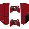 Xbox Super Slim Adesivo Skin Fibra Vermelho