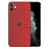 Apple iPhone 11 Adesivo Skin Película Fibra Vermelho