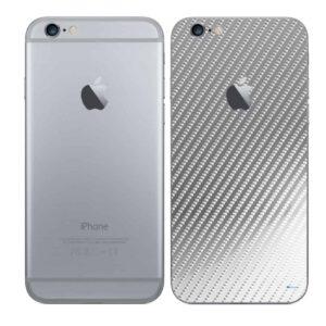 iPhone 6 Adesivo Skin Película Traseira Fibra Cromo