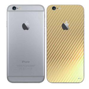iPhone 6 Adesivo Skin Película Traseira Fibra Dourado