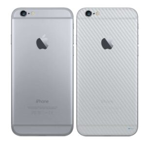 iPhone 6S Plus Adesivo Skin Película Traseira Fibra Transparente