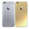 iPhone 6s Adesivo Skin Película Traseira Fibra Dourado