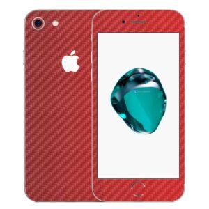 iPhone 7 Apple Adesivo Skin Película Fibra Vermelho