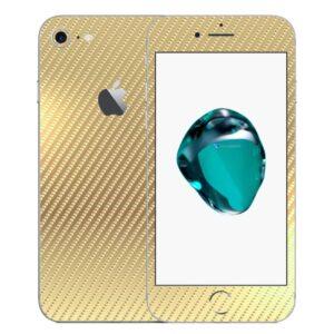 iPhone 8 Apple Adesivo Skin Película Fibra Dourado