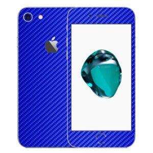 iPhone 8 Apple Adesivo Skin Película Fibra Azul