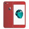 iPhone 8 Apple Adesivo Skin Película Fibra Vermelho