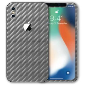 iPhone X Apple Adesivo Skin Película Fibra Cinza