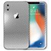 iPhone X Apple Adesivo Skin Película Fibra Cromo