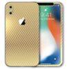 iPhone X Apple Adesivo Skin Película Fibra Dourado
