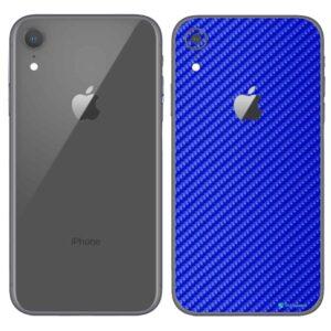 iPhone XR Apple Adesivo Skin Película Fibra Azul