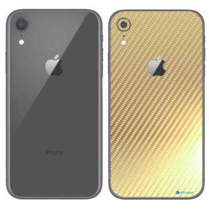 iPhone XR Apple Adesivo Skin Película Fibra Dourado